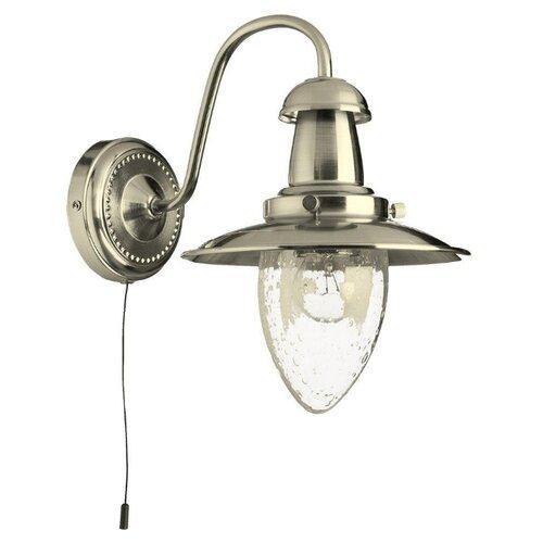 Бра Arte Lamp Fisherman A5518AP-1SS, с выключателем, 60 Вт бра arte lamp fisherman a5518ap 1ab