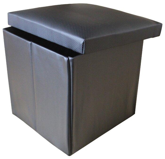 Пуфик с ящиком для хранения Тематика складной с перфорацией искусственная кожа