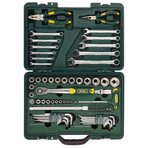 Набор автомобильных инструментов Kraftool (84 предм.) 27977-H84 зеленый набор инструментов kraftool 70 предметов industry 27977 h70