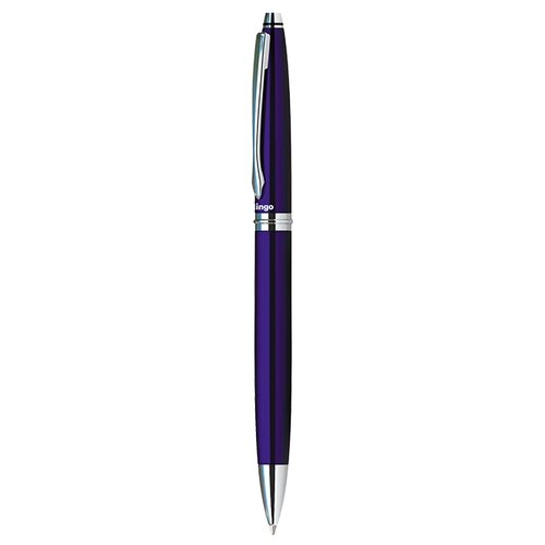 Фото - Berlingo Ручка шариковая Silver Classic 0,7 мм, синий цвет чернил berlingo ручка перьевая velvet prestige 0 8 мм синий цвет чернил