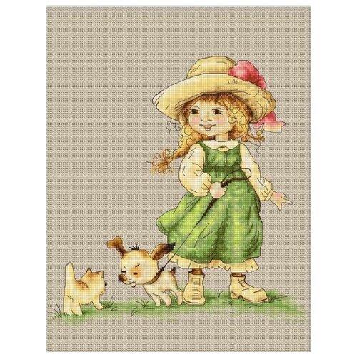 Купить Luca-S Набор для вышивания С поводком, 22 х 22.5 cм, B1104, Наборы для вышивания