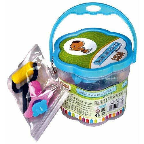 Купить Масса для лепки Color Puppy 18 цветов 315 г с формочками и инструментами (63780), Пластилин и масса для лепки