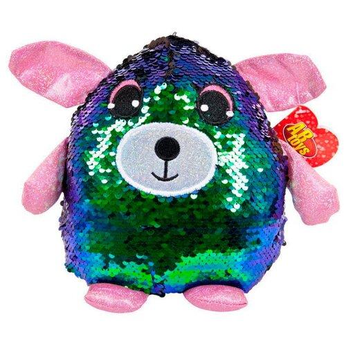 Мягкая игрушка ABtoys Собака с пайетками сине-зеленая 20 смМягкие игрушки<br>