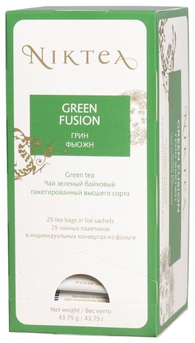 Чай зеленый Niktea Green fusion в пакетиках, 25 шт.