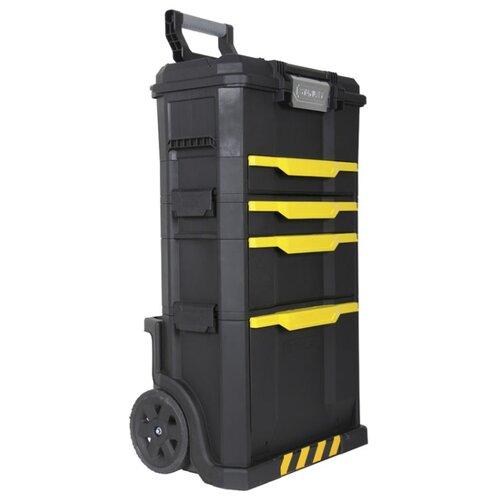 Ящик-тележка STANLEY 1-79-206 Stanley Modular Rolling Workshop 86.6x48x34.8 см черный/желтый ящик stanley 1 94 749 58 4x26 7x30 5 см 23 черный