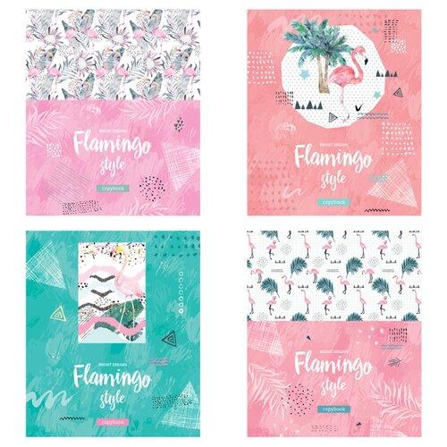Купить ArtSpace Упаковка тетрадей Стиль. Flamingo, Т48к_29737, 10 шт./4 дизайна, клетка, 48 л., Тетради