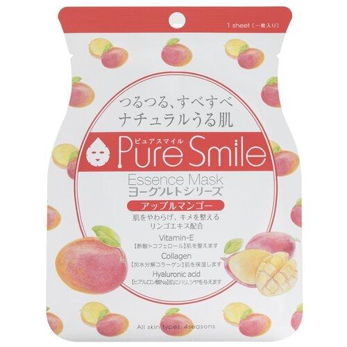 Sun Smile тканевая маска Pure smile Yogurt на йогуртовой основе с экстрактами яблока и манго, 23 мл sun smile тканевая маска yogurt mask увлажняющая с экстрактом отрубей 23 мл
