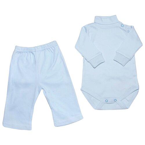 Комплект одежды Клякса размер 74, голубойКомплекты<br>