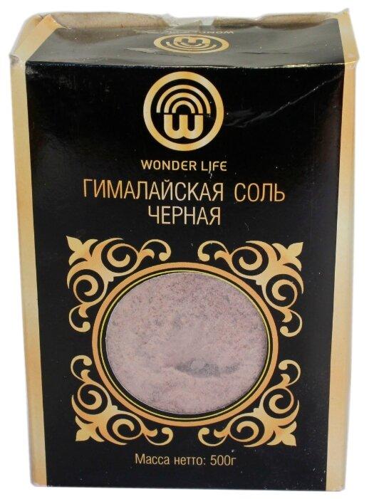 Wonder Life Соль Гималайская черная, мелкий помол, 500 г