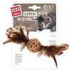 Мячик для кошек GiGwi Catch & Scratch ECO с колокольчиком и пером (75438)