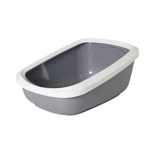 Туалет-лоток для кошек SAVIC Aseo Jumbo 67.5х48.5х28 см белый/серый