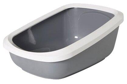 Туалеты, пеленки для кошек SAVIC Туалет для кошек ASEO JUMBO с бортом серый