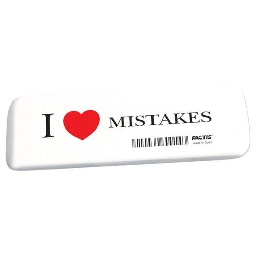 Купить FACTIS Ластик I love mistakes белый, Ластики