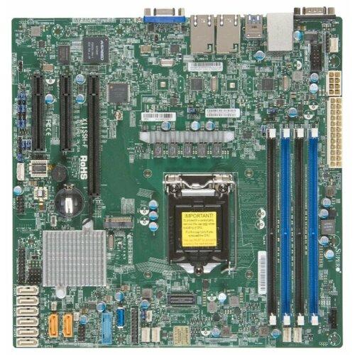 Материнская плата Supermicro X11SSH-F серверная материнская плата supermicro x10drh c o