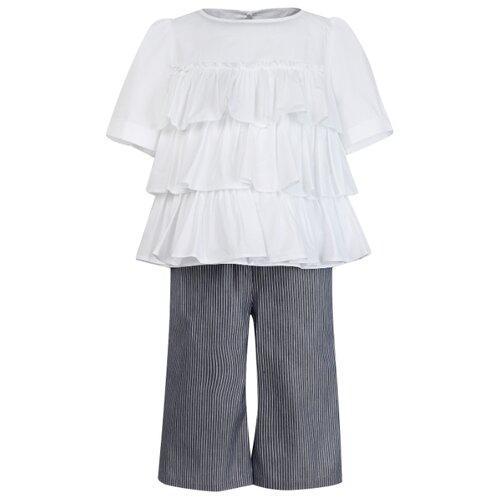 Купить Комплект одежды Simonetta размер 128, белый/серый, Комплекты и форма