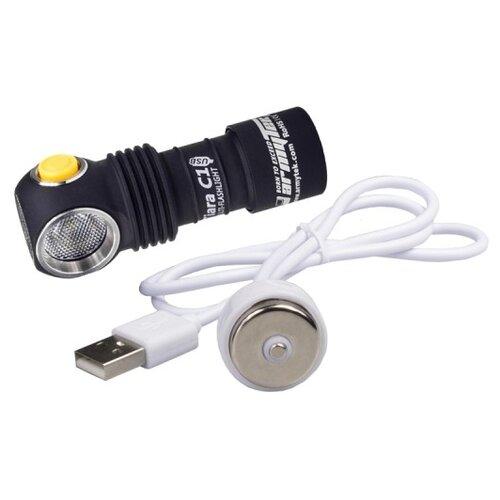Ручной фонарь ArmyTek Tiara C1 Magnet USB XP-L (тёплый свет)+18350 Li-Ion черный ручной фонарь l a g s011 золотой