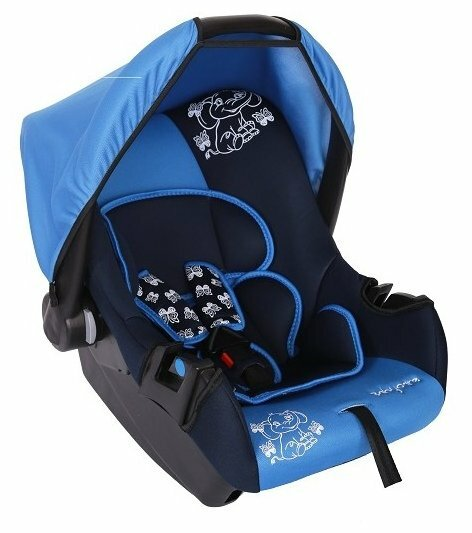 Автокресло группа 0+ (до 13 кг) Baby Care BC-322 Люкс Слоник