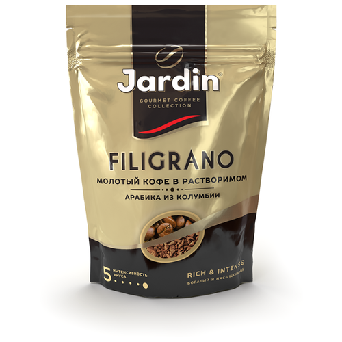 цена Кофе растворимый Jardin Filigrano с молотым кофе, пакет, 75 г онлайн в 2017 году