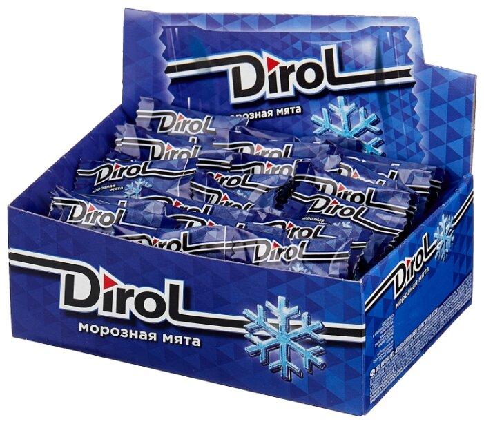 Жевательная резинка Dirol Cadbury Морозная мята, без сахара 100 шт