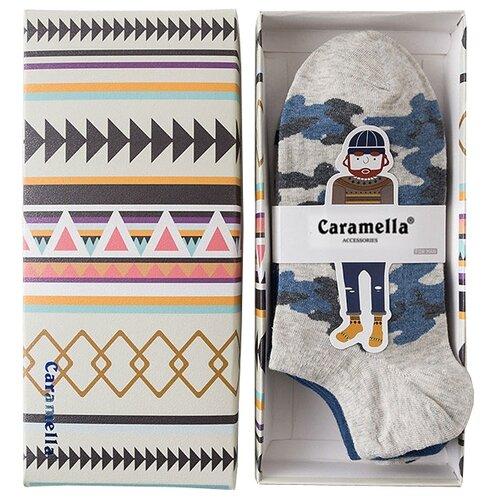 Носки Этника-3, набор из 4 пар Caramella синий/серыйНоски<br>