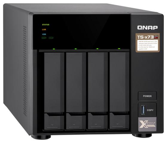 СХД QNAP настольное исполнение 4BAY 4GB TS-473-4G