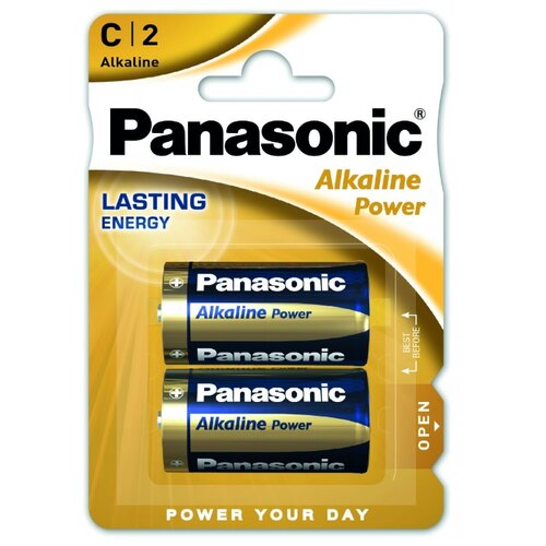Батарейка Panasonic Alkaline Power C/LR14 2 шт блистер