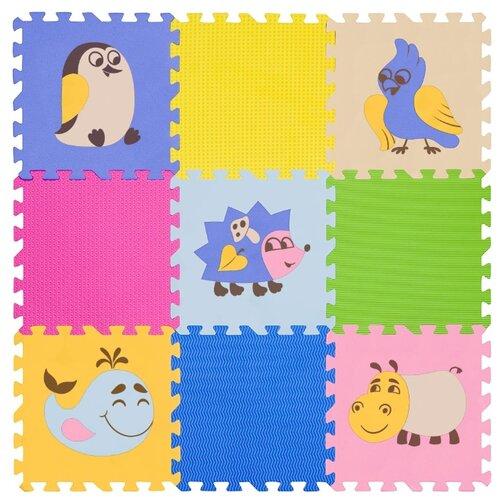 Купить Коврик-пазл Funkids Окружающий мир №6 Дикие Животные, толщ. 15 мм (KB-D201B-NT-06), Игровые коврики