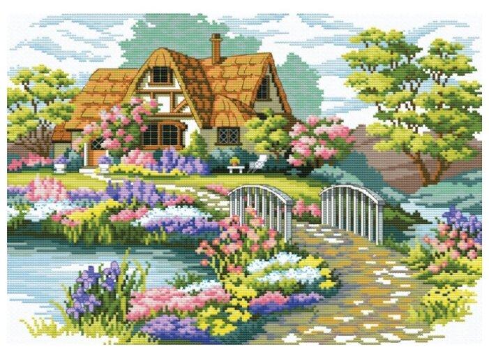 Белоснежка Набор для вышивания Мостик в цветах 45,5 x 34,7 см (7540-PK)