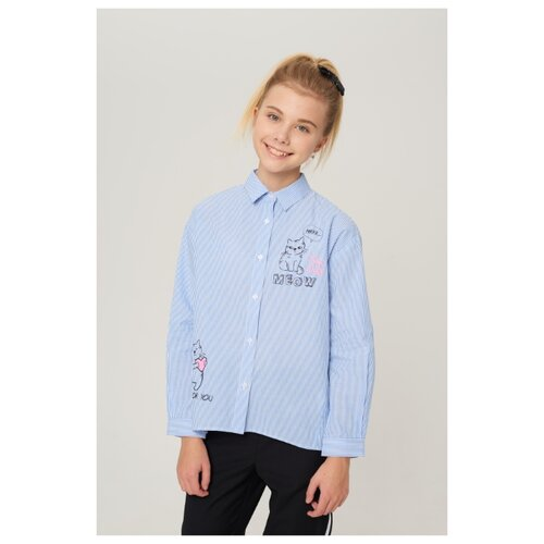 Блузка INFUNT размер 122, голубой блузка infunt размер 122 белый