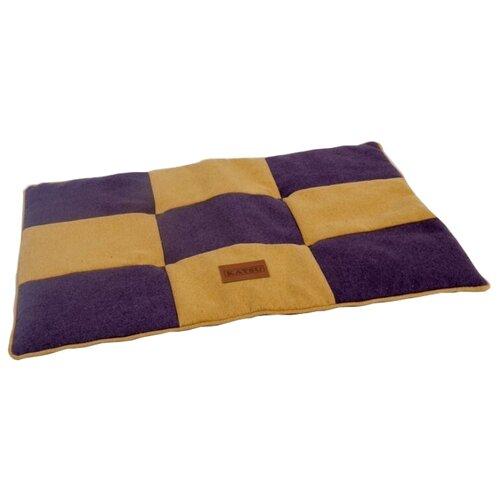 Лежак для собак и кошек Katsu Kern S 75х50 см фиолетовый/желтый