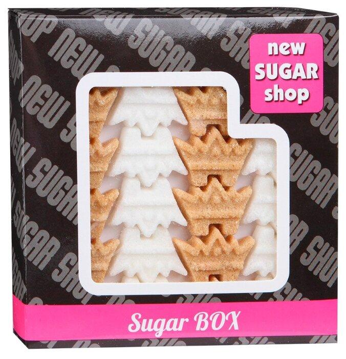 Сахар New SUGAR shop фигурный Sugar BOX Короны сахарные тростниковые и белые 0.23 кг