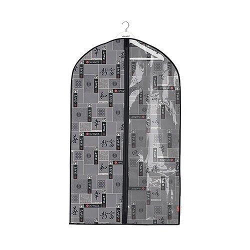 Valiant Чехол для одежды с прозрачной вставкой малый 100x60 см серый/черный