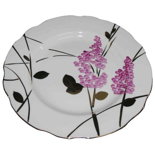 Дулёвский фарфор Тарелка мелкая Вырезной край Розовая ветка 20 см тарелка мелкая дулевский фарфор альпийские цветы красные диаметр 20 см