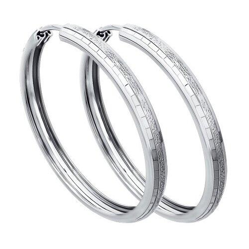 SOKOLOV Серьги конго из серебра с алмазной гранью 94140068 фото