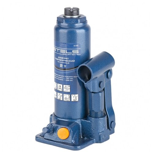 Домкрат бутылочный гидравлический Stels 51101 (2 т) синий
