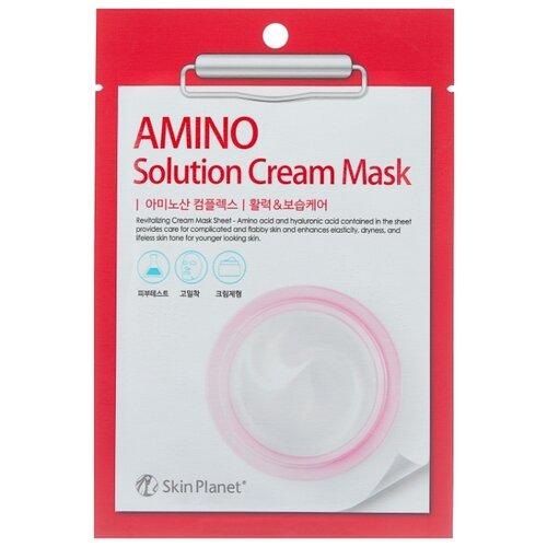 Skin Planet тканевая маска Mijin Skin Planet Amino Solution Cream Mask с аминокислотами, 30 г mediheal zero solution skin chart teatre pair mask