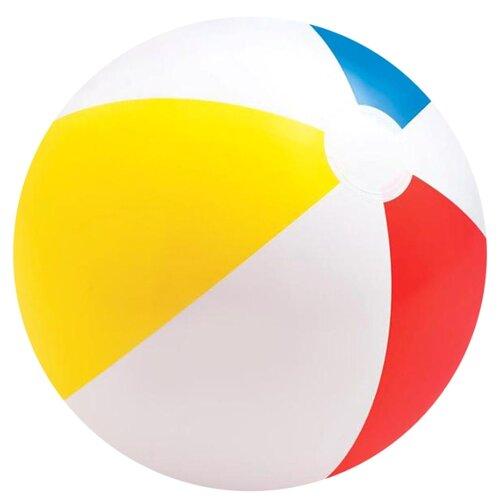 Пляжный мяч Intex 59020 белый/желтый/голубой/красный
