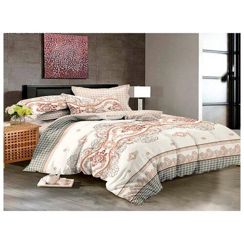 Постельное белье 2-спальное с евро простыней Бояртекс Luxor 32183 А HL сатинКомплекты<br>