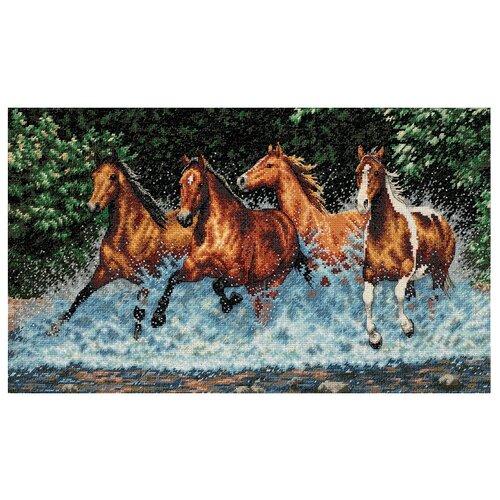 Купить Dimensions Набор для вышивания Galloping Horses (Бегущие лошади) 46 х 25 см (35214), Наборы для вышивания
