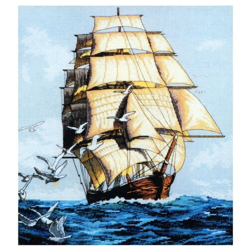 Купить Белоснежка Набор для вышивания Фрегат 35 x 39 см (1003), Наборы для вышивания