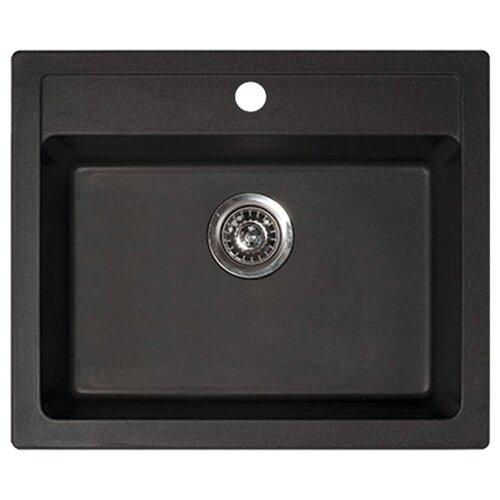 Фото - Врезная кухонная мойка 60 см ORIVEL Quadro 60 черный врезная кухонная мойка 60 5 см granmill 024 24чер черный