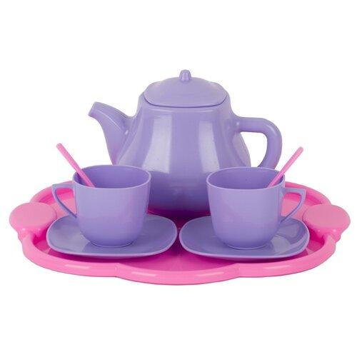 Купить Набор посуды СТРОМ Чайный У578 розовый/сиреневый, Игрушечная еда и посуда
