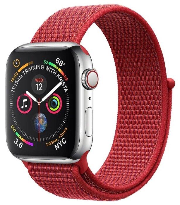 Ремешок нейлоновый для Apple Watch 42mm/44mm, черный
