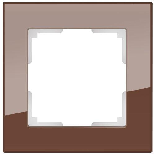 Рамка 1п Werkel WL01-Frame-01, коричневый рамка 1п werkel wl01 frame 01 dbl белый