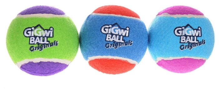 Мячик для собак GiGwi GiGwi ball Original большой 3 шт (75337)
