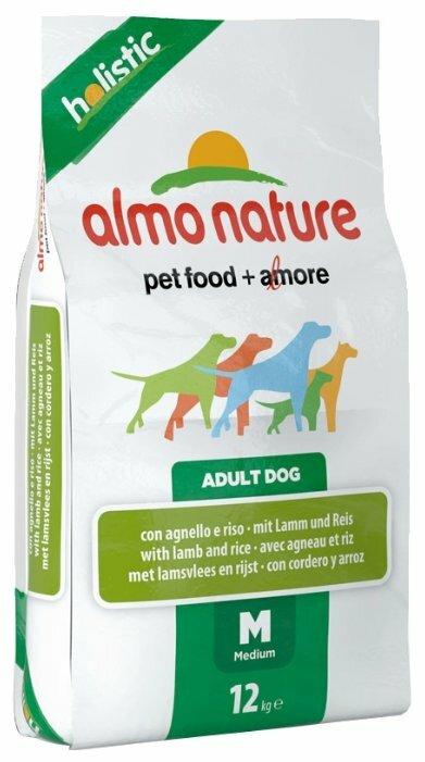 Корм для собак Almo Nature Holistic ягненок (для средних пород)