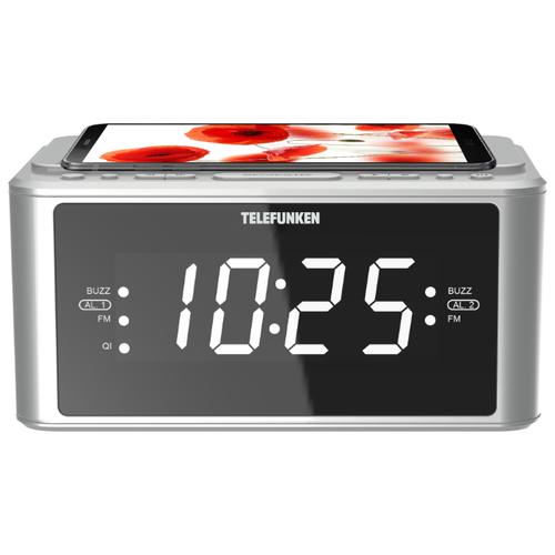 Радиобудильник TELEFUNKEN TF-1595U серебро