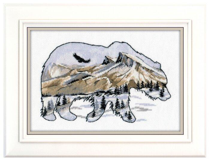 Овен Цветной Вышивка крестом Мир животных Медведь 25 х 17 см (1052)