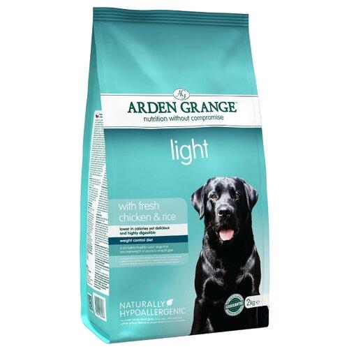 Корм для собак Arden Grange (2 кг) Adult Light курица и рис сухой корм для взрослых собак, диетическийКорма для собак<br>