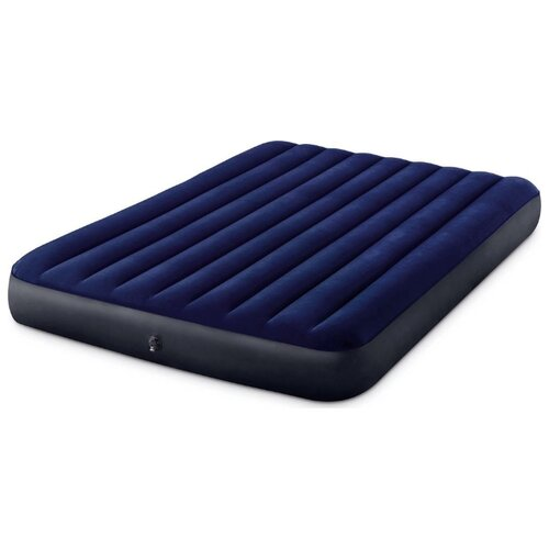 Фото - Надувной матрас Intex Classic Downy Airbed (64759) синий надувной матрас intex mid rice airbed 64116 светло темно серый